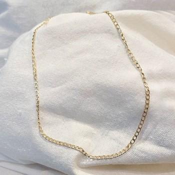 Collier maillons fin gourmette en plaqué or - Bijoux fins et intemporels