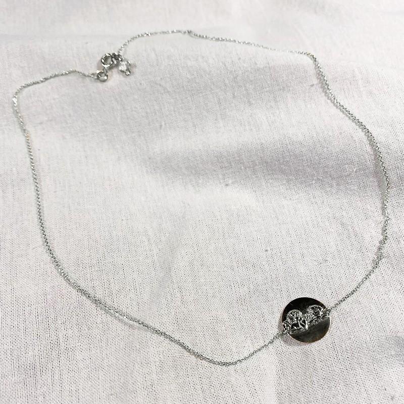 Collier fin en argent médaille d'ange - Bijoux fins et intemporels