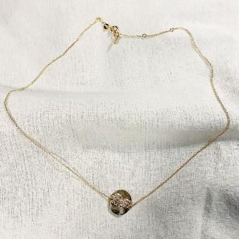 Collier fin en plaqué or médaille d'ange - Bijoux fins et intemporels