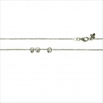 Collier Istanbul sur chaine en argent avec 3 petits anneaux perlés - Bijoux modernes - Gag et Lou - bijoux fantaisie